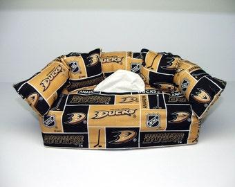 Anaheim Ducks Licensed fabric tissue box cover.