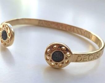 Gold and Black Druse Bracelet Decision