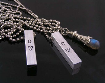 Matching Couple Necklaces, Personalized Necklace, Friendship Necklaces, Wedding Jewelry, Relationship Jewelry, Couples Necklace