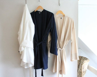 Handmade Linen Robe - Choose your color