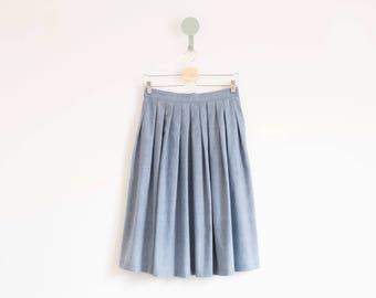 Maxi pleated skirt -1950s swing skirt -Midi skirt -Skirt with pockets -Full flared skirt -Swing skirt -Retro full skirt -Cotton skirt