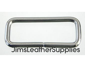 """1 1/2"""" stainless steel wire loops 10 pack - also known as belt keepers 1 1/2"""" X 1/2"""" X 3.2mm (#73)"""