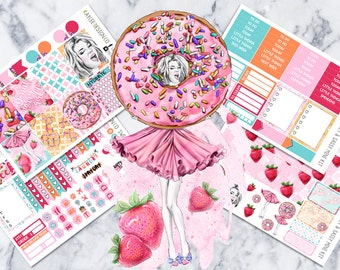 MINI Weekly Kit / Sweet & Sassy / Planner Stickers / Planner Stickers / Fits Erin Condren Vertical and MAMBI / Hand Drawn
