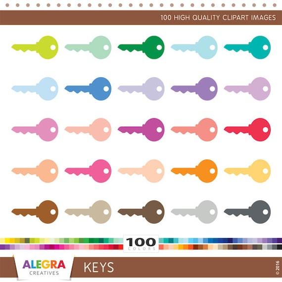 100 Keys clipart door keys clip art set house by ...