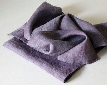 Linen Napkins (Set of 2)/ Purple Pink Orange Peach Linen Napkins/ Cloth Napkins