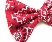 Red Bandanna Bow Tie for Dogs