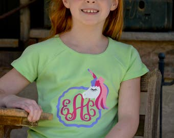 Unicorn Monogrammed shirt - unicorn baby clothes - unicorn shirt - unicorn shirt girls - unicorn tshirt - kids unicorn shirt