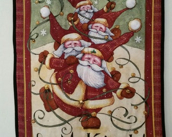 Jingle Santa Wallhanging