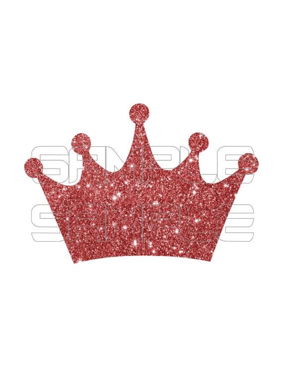 Digital Glitter Crown Tiara Clipart Sparkly Glittery