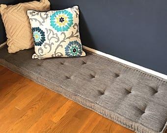 """Farmhouse cushions - Custom bench cushions - Window seat cushion - French mattress cushion - Banquette cushions - 32""""-44"""" lengths"""