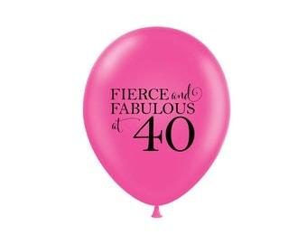 40th Birthday Party, Birthday Balloons, 40th, 40, Fierce and Fabulous, 40th Birthday Party Decorations, Party Decor, Party Balloons, Girls