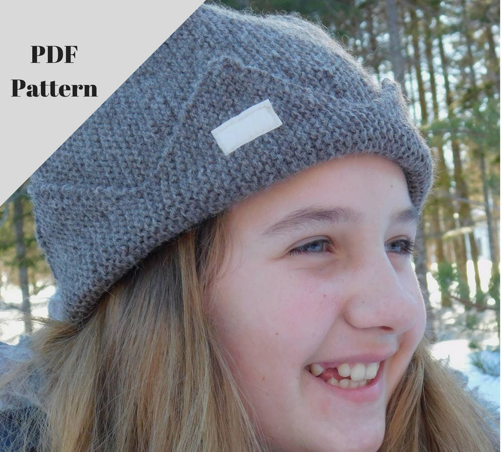 Knitting Pattern Jughead Hat : Jughead hat PDF pattern. Knitting pattern. Beginners level.