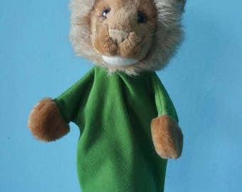 STEIFF lion hand puppet! Collectible plush hand puppet 1980s