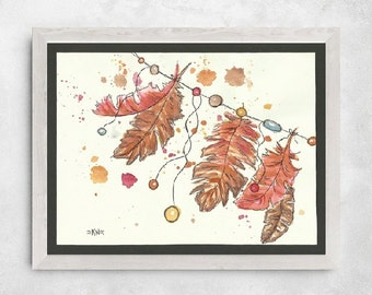 Feathers *Original Watercolor Painting*