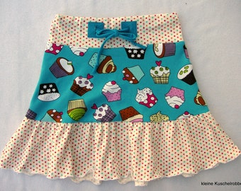 Rock, tiered skirt, Gr. 104/110, Jersey, muffins