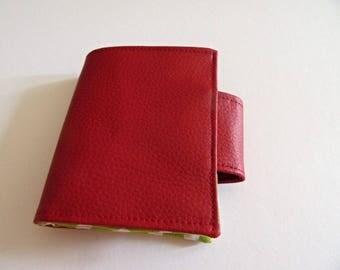 NB-009 Lefthander needle book, vegan leather sewing case, needle case, fabric sewing case, sewing storage, left-handed needle book, needle case