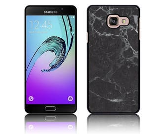 Faux Marble Effect Black Cover for Samsung GALAXY A3, A3 2016, A3 2017,  A5, A5 2016, A5 2017 Polycarbonate Case