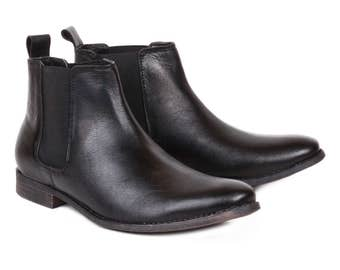 Men's Leather Formal Chelsea Ankle Boots