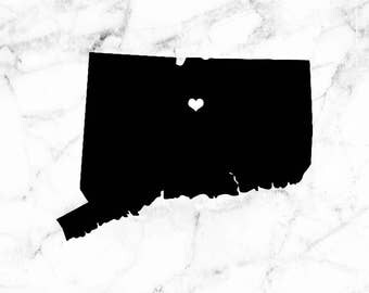 Connecticut decal, state decal, CT decal, Connecticut laptop sticker