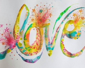 Love, original A3 painting.