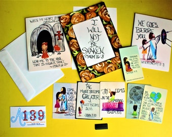 Surprise Gift Bag of Encouragement/Care Package of Encouragement/Grab Bag of Encouragement/Christian Gift/Scripture Doodle Stationary Pack