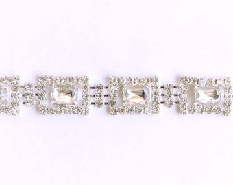 Crystal Rhinestone by the Yard - Wholesale Bridal Trim - Rhinestone Applique - rhinestone banding  - cake banding - rhinestone dress straps