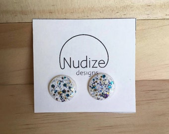 """Handmade statement stud earrings // gifts for her // """"Shine bright"""""""