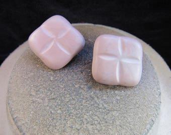 Vintage Pair Of Pink Clip Earrings
