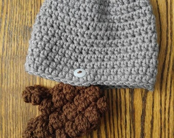 Crochet Beard Hat//Boys//Newborn, Toddler, Child