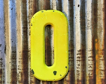 VIntage Metal Marquee Sign Letter, Metal Letter O, Industrial Metal Letter, Sign Letter
