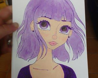 Sailor Moon Artwork, Sailor Saturn Painting, Illustration Print, Kawaii Picture
