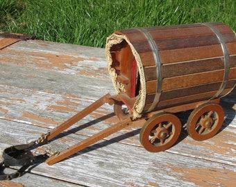 Vintage Wooden Folk Art Gypsy Romany Bow Top Caravan