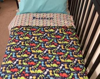 Fun Dinosaur Toddler Bedding Set