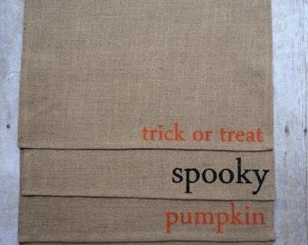 Halloween placemats- burlap placemats- Halloween decorations- Halloween burlap placemats- placemat- Halloween kitchen- Fall placemat