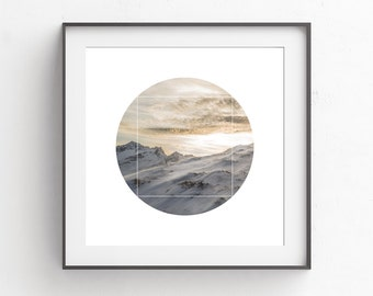 Minimalist Modern Prints, Square Wall Prints, Nature Photography Wall Print, White, Photography Wall Print, White Print Art, Snow