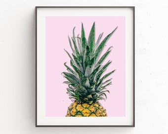 Pineapple Poster | Pineapple Print Art | Tropical Wall Poster | Pineapple Print