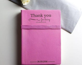Bridesmaid Thank You Leather Journal