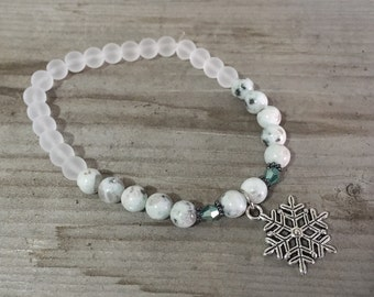 Snowflake bracelet holiday bracelet
