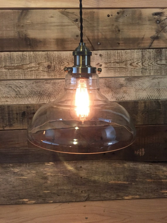 Wall Plug Hanging Lamps : Plug In Glass Pendant Light Wall Plug-In by ContemporaryRust