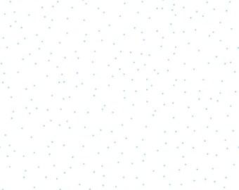 50% off 1 yd Sew Cherry 2 Pin Dot Fabric by Lori Holt for Riley Blake C5807 Aqua