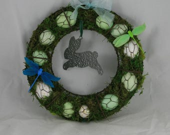 Easter Eggs, Bunny and Dragonflies