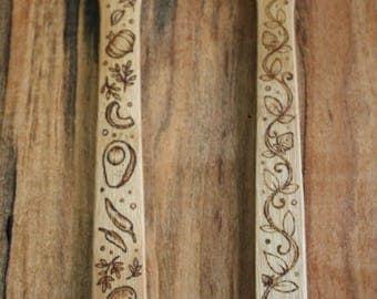 Pyrography Bamboo Stirring Hole Spatula