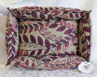 ResistFashion Design Beige/Purple Leaf Pet Bed, Cat Bed, Small Dog Bed, unique home decor design