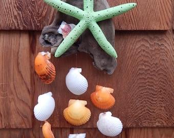 Beach Themed Decor, starfish & driftwood chime