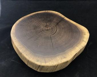 Natural Walnut Cake stand/Serving Platter/Cutting Board, natural edge