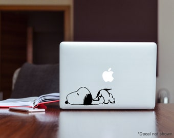 Snoopy Peanuts Vinyl Decal x 2 Sticker Car Laptop iPad