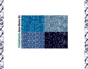 32 Glitter Headers (Azure Blooms Collection)