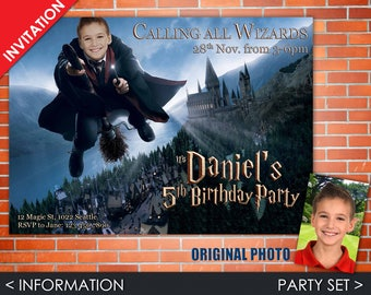 Invitacion Digital de Harry Potter para Cumpleaños