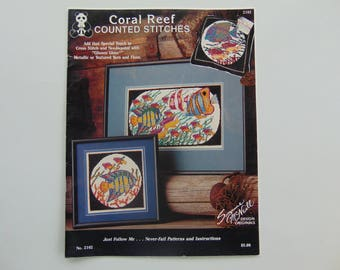 Coral Reef Counted Cross Stitch Suzanne McNeill Designs 1990