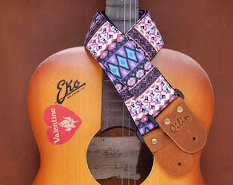 Purple Retro Guitarstrap